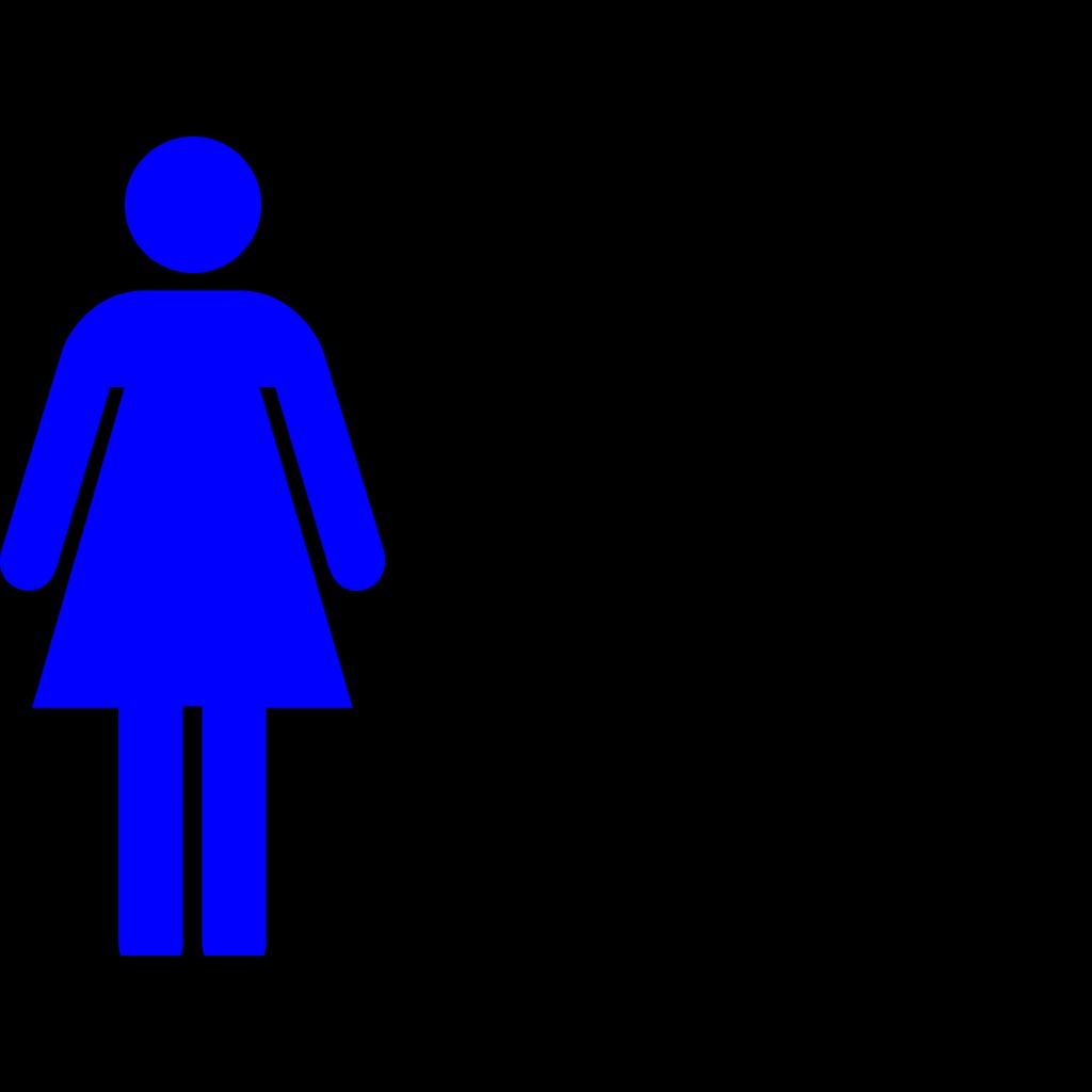 Blue Female Restroom Symbol SVG Clip arts