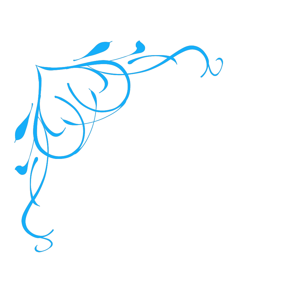 Blue Swirl Heart SVG Clip arts