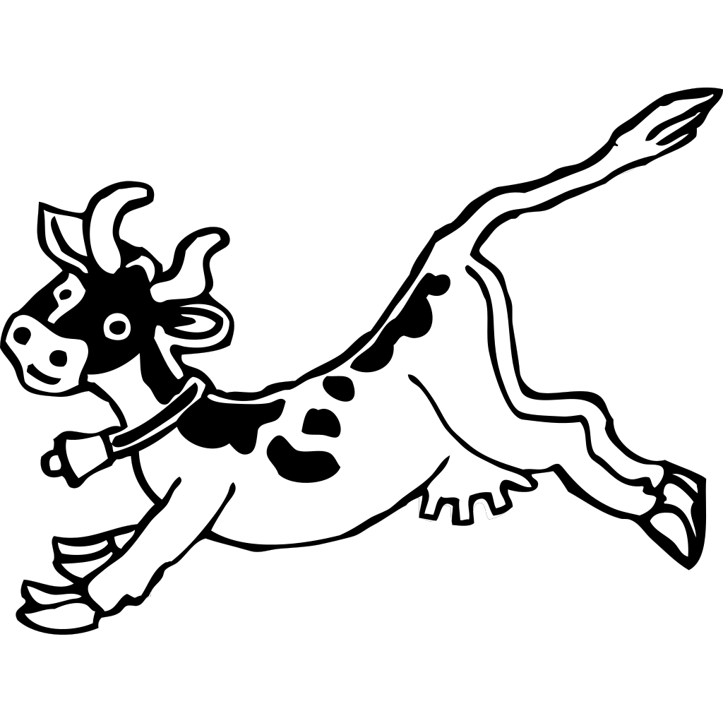 Jumping Cow SVG Clip arts