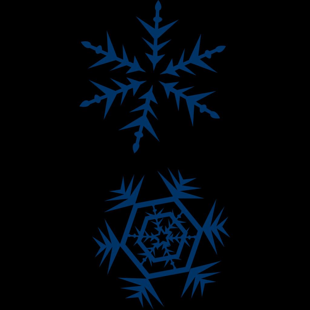 Blue Snow Flakes SVG Clip arts
