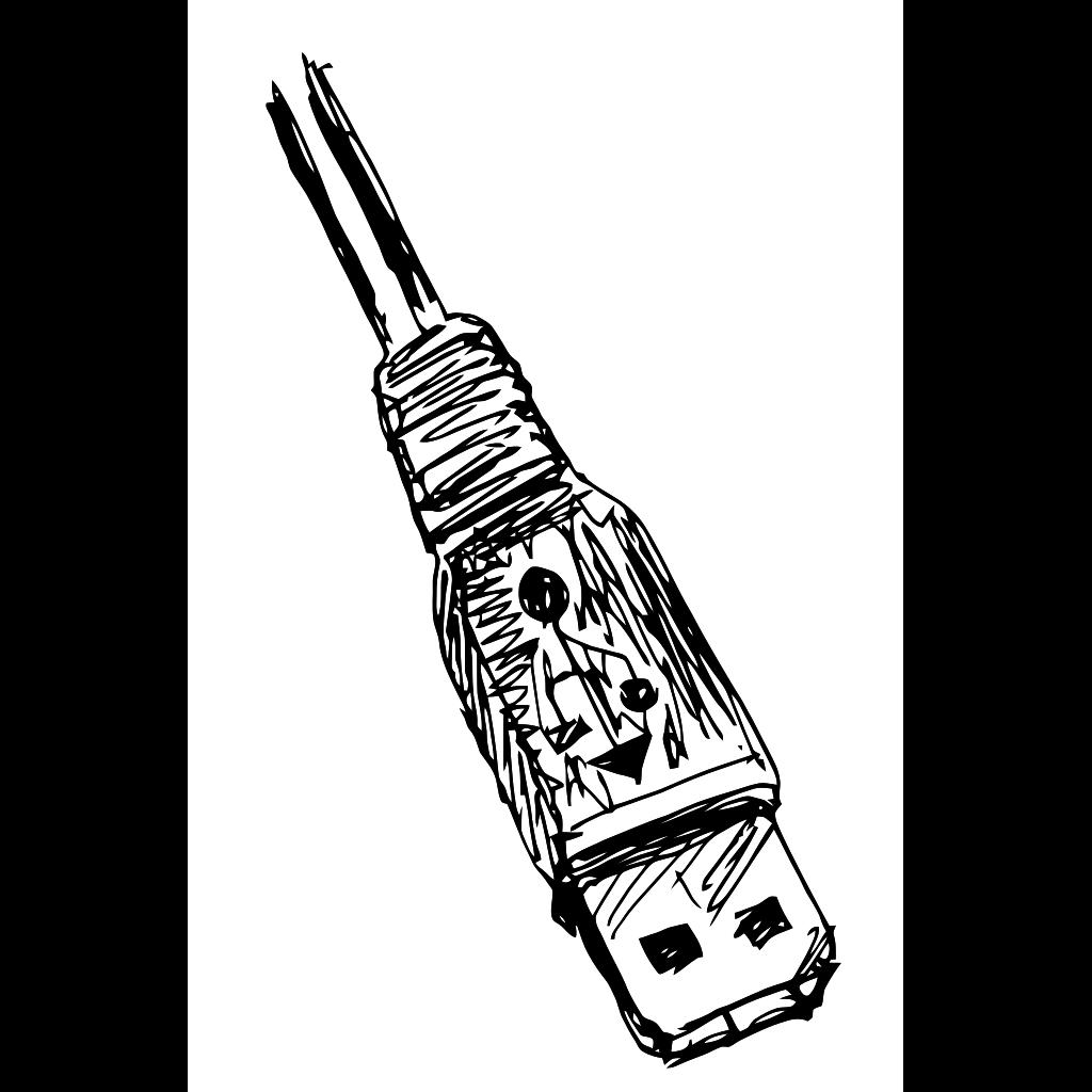 Usb Cable SVG Clip arts