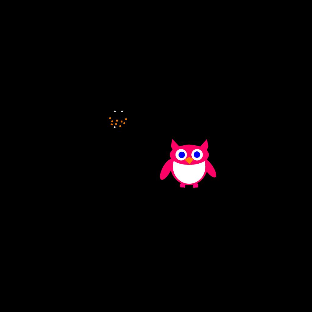 Pink Owl SVG Clip arts