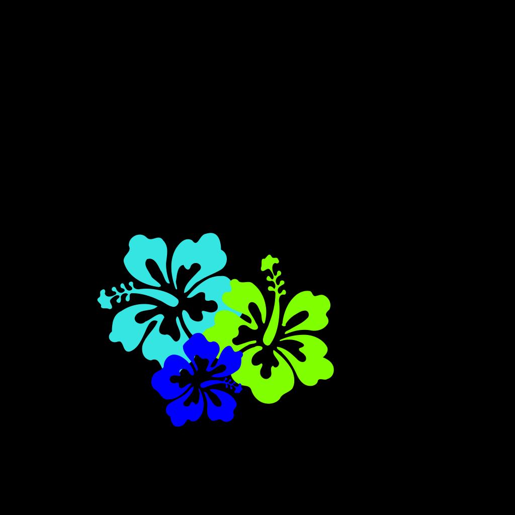 Hibiscus Trio SVG Clip arts