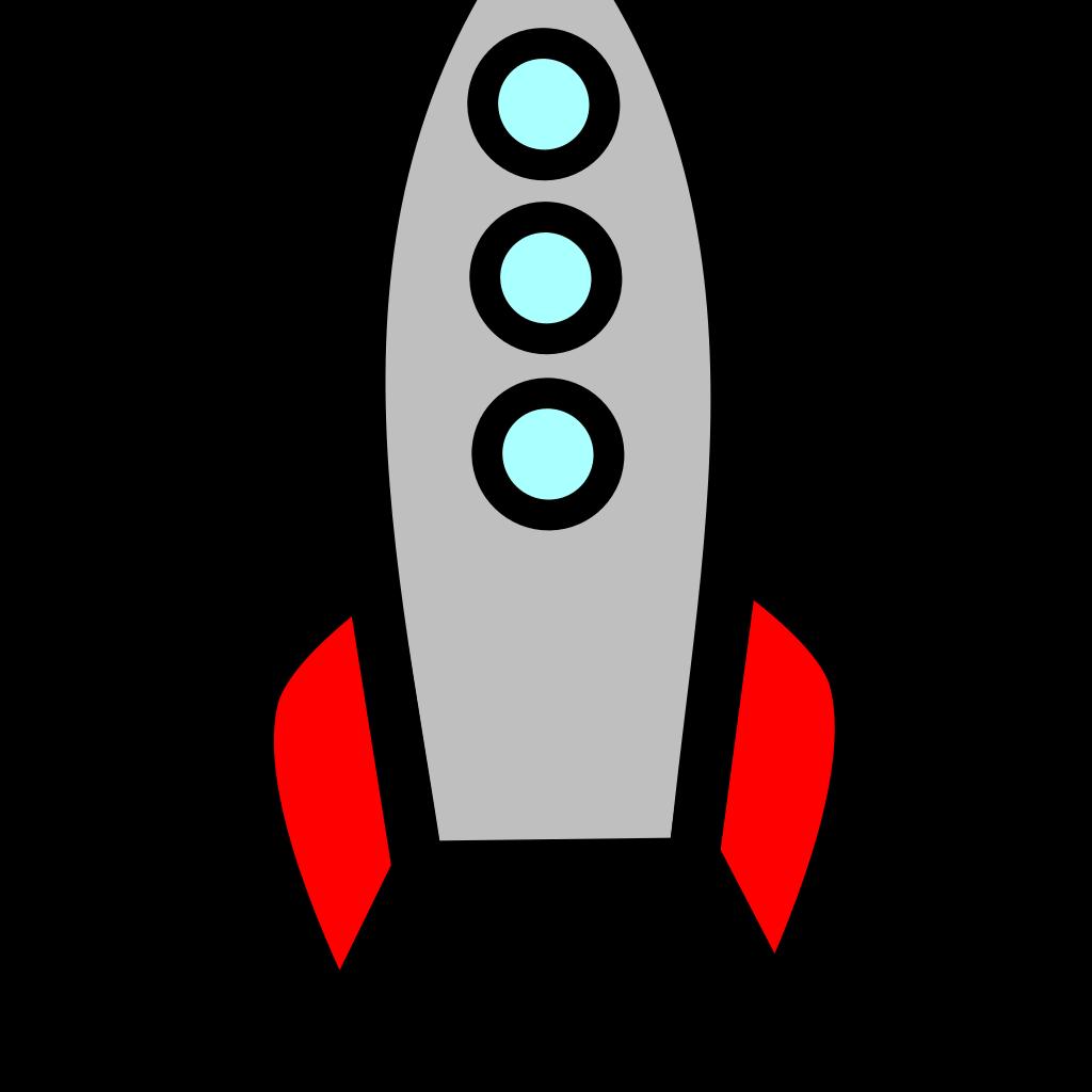 Blue Rocket Ship SVG Clip arts