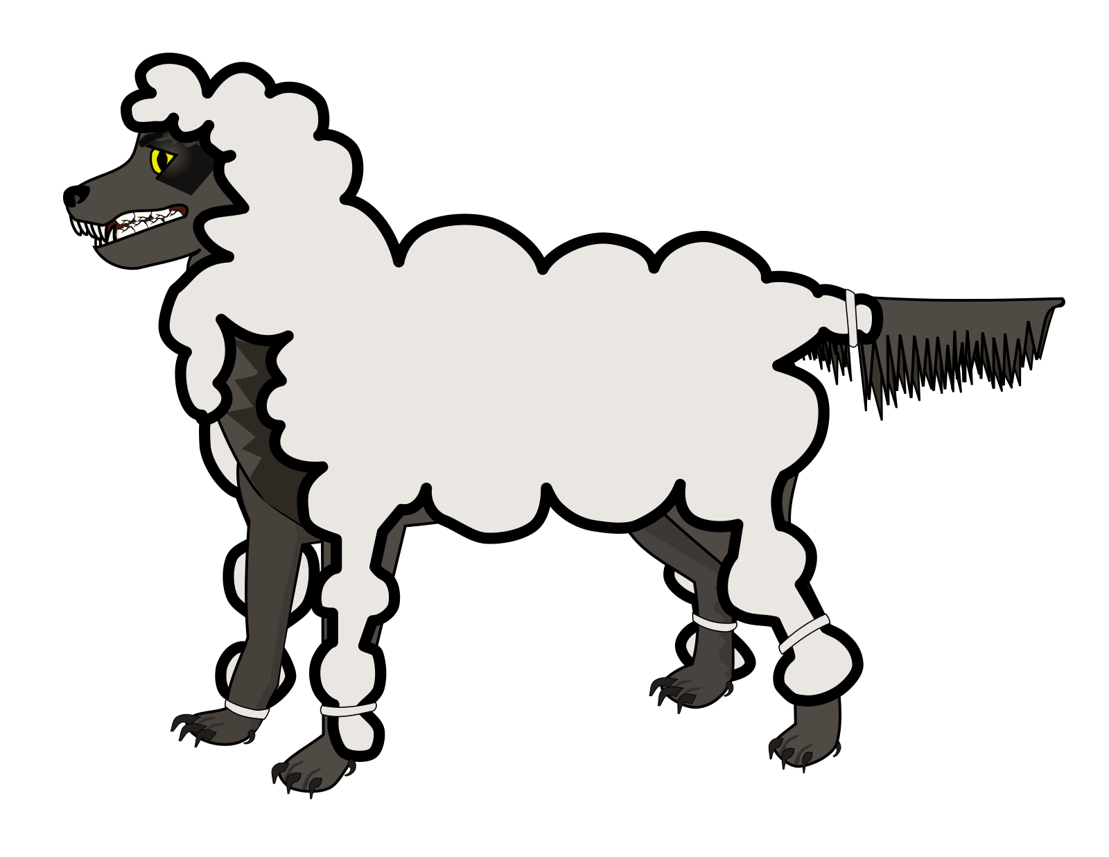 Sheep 2 Toned Blues Looking Up To Left SVG Clip arts