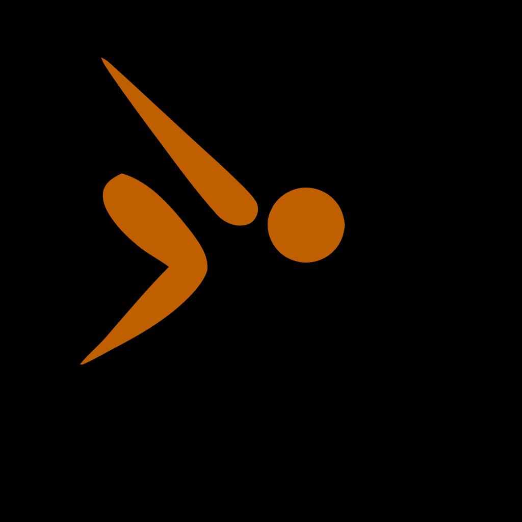 Swimming Swan SVG Clip arts