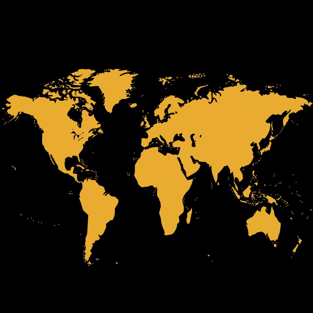 World Map2 SVG Clip arts
