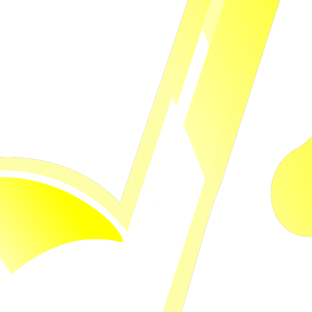 Blue Yellow Music Note SVG Clip arts