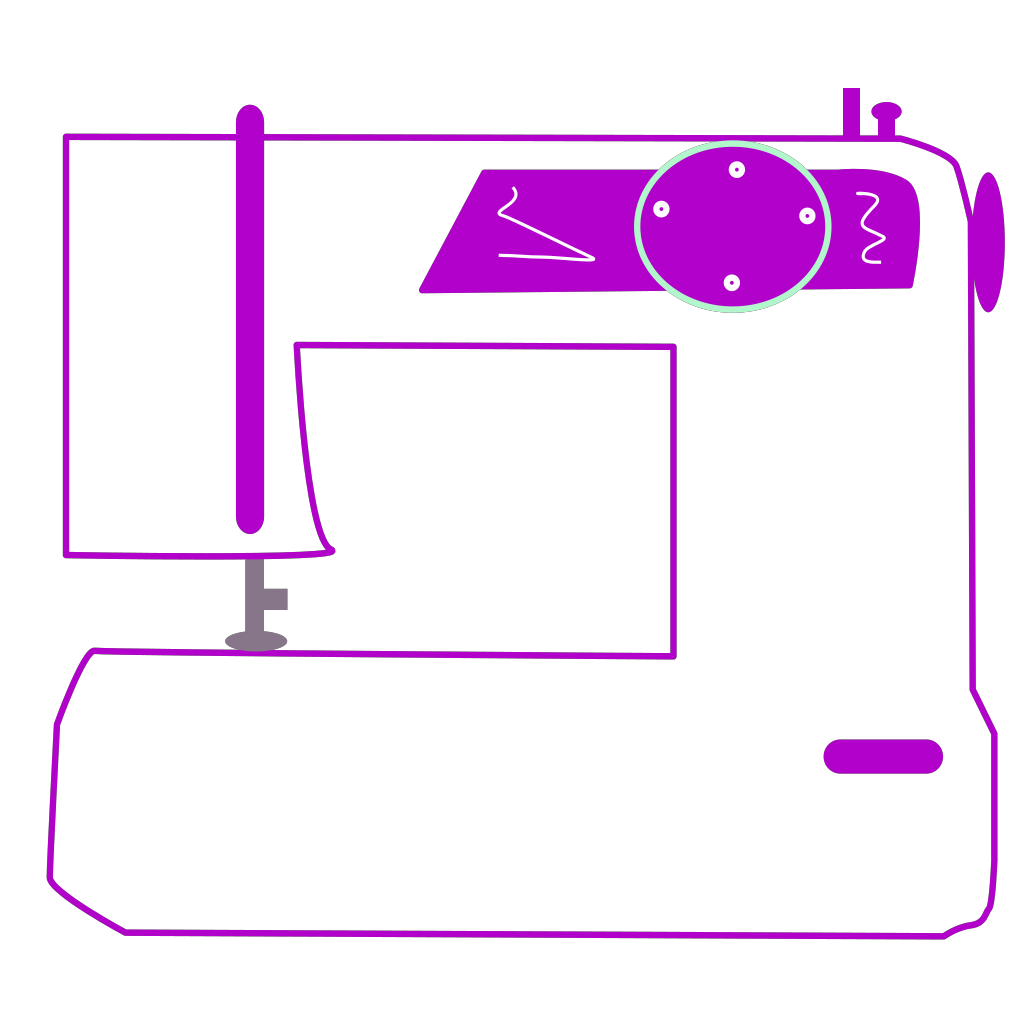 Sewing Machine SVG Clip arts