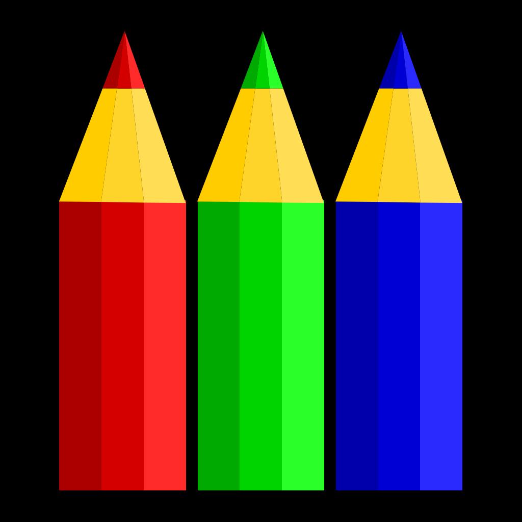 Color Pencils SVG Clip arts