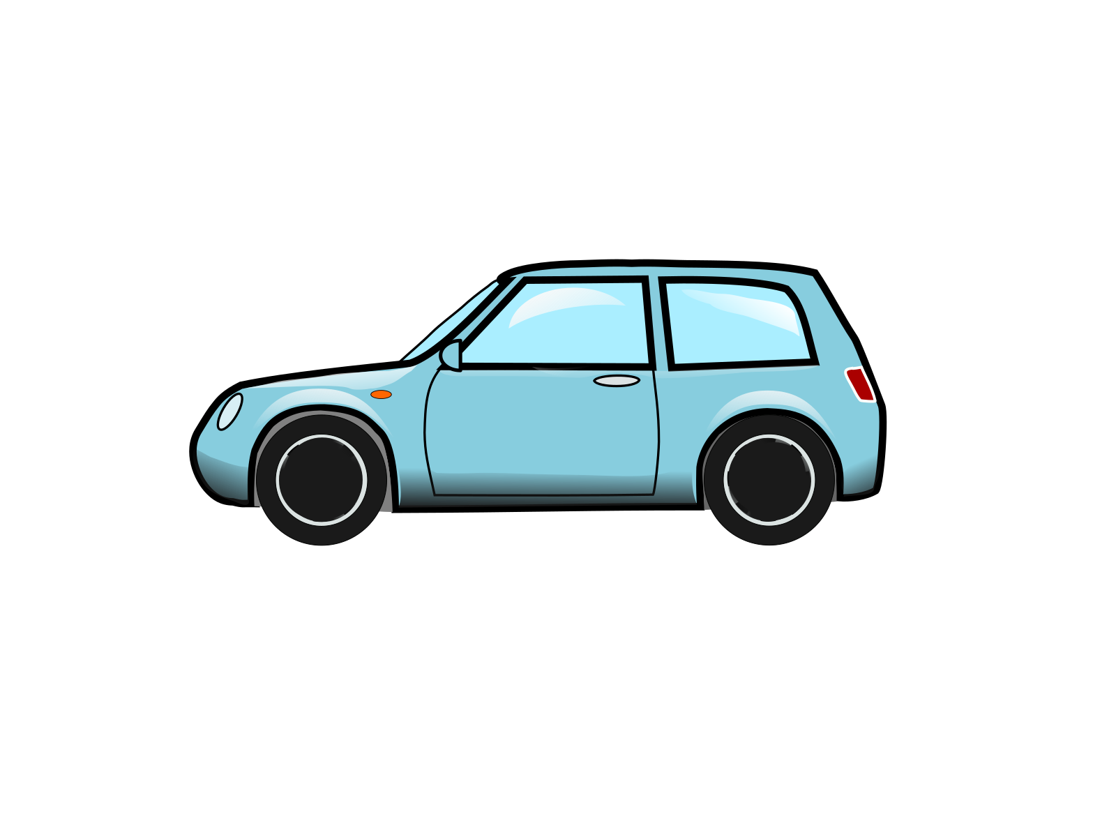 Blue Car SVG Clip arts