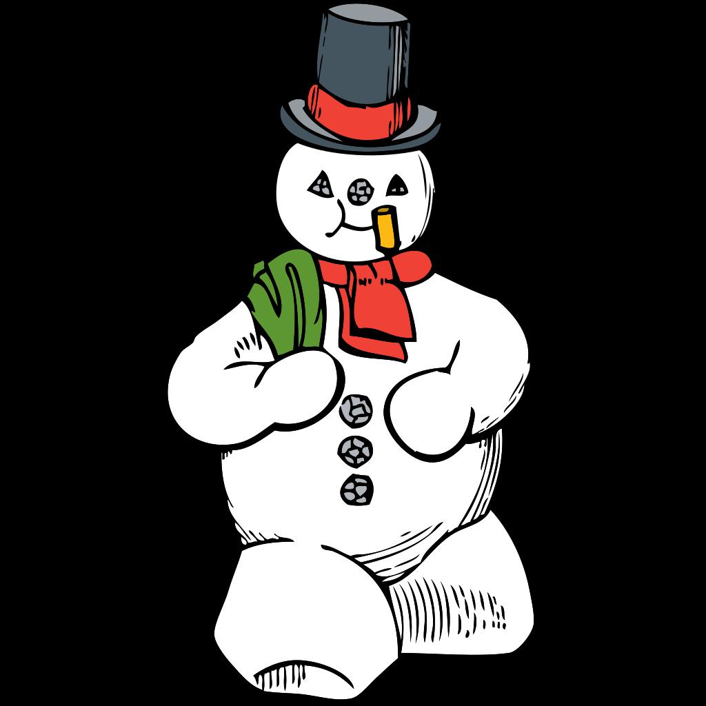 Blue Snowman SVG Clip arts