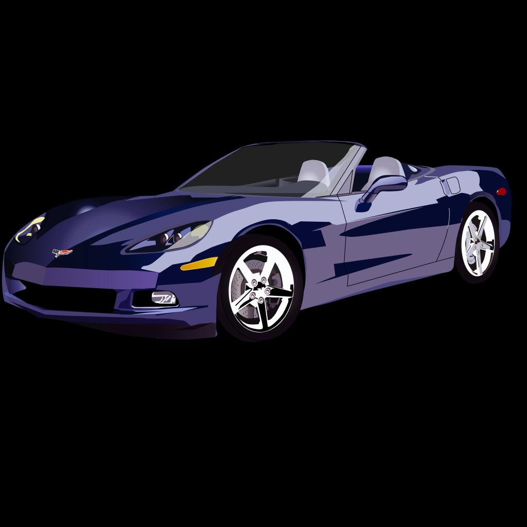 Convertible Sport Car SVG Clip arts