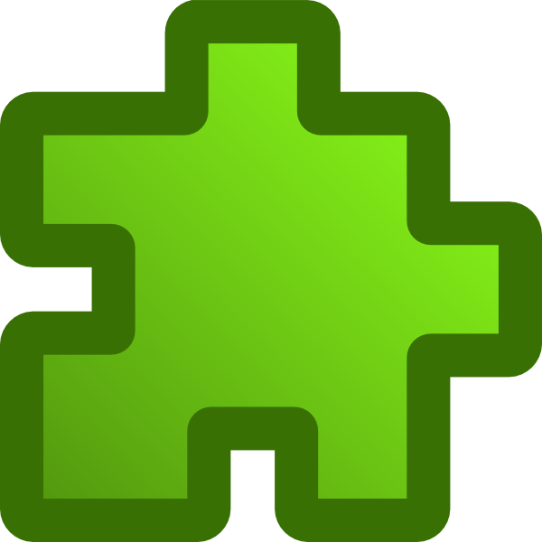 Blue Green Puzzle Piece - Small SVG Clip arts