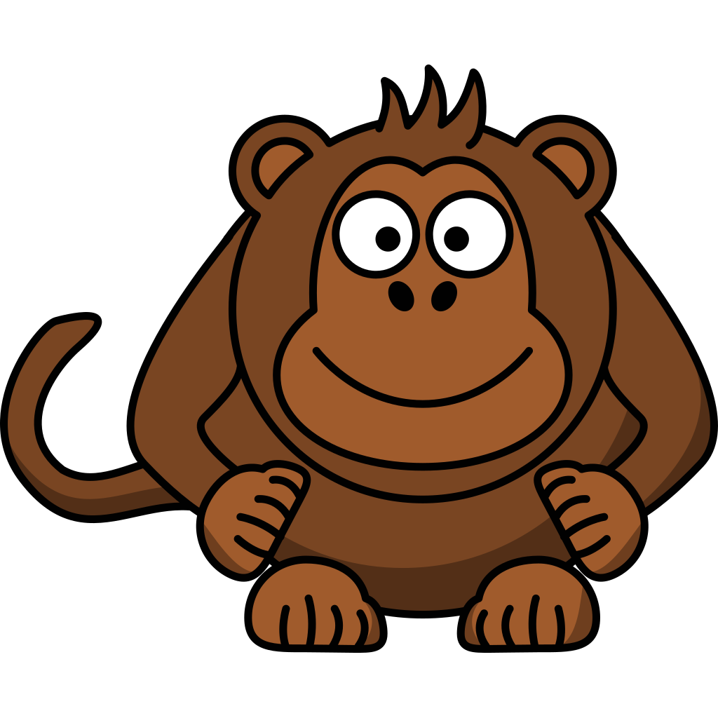 Cartoon Monkey SVG Clip arts