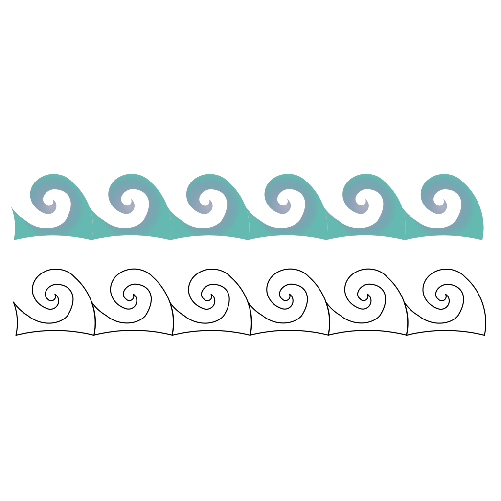 Ship On Waves SVG Clip arts