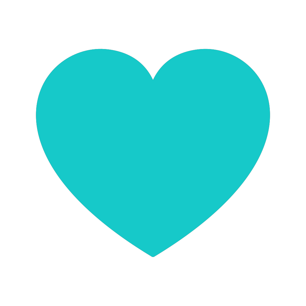 Teal Heart SVG Clip arts