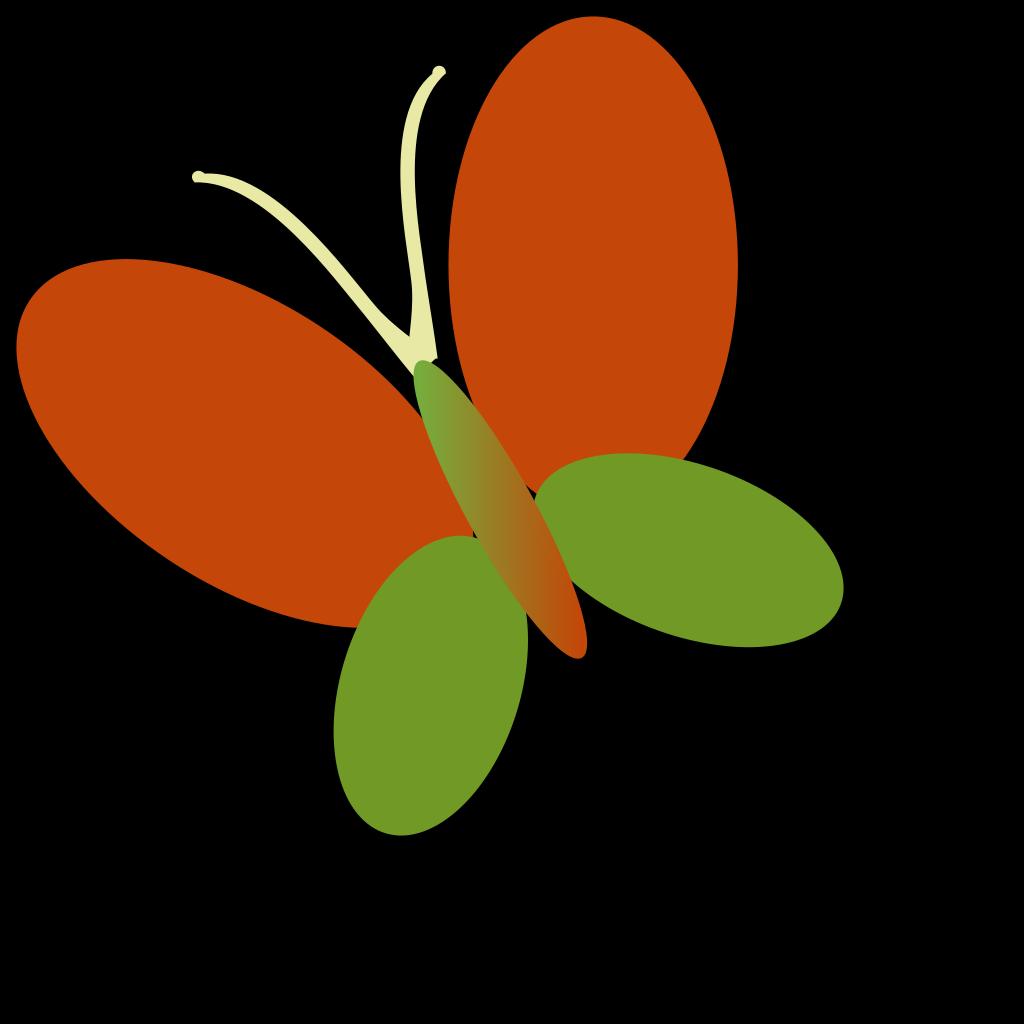 Retro Butterfly SVG Clip arts