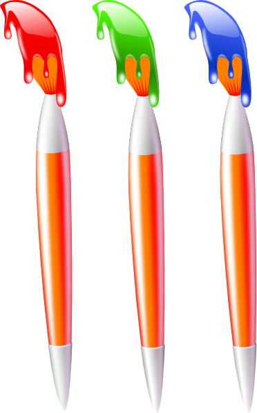 Brush Stroke Pattern Blue Paint SVG Clip arts