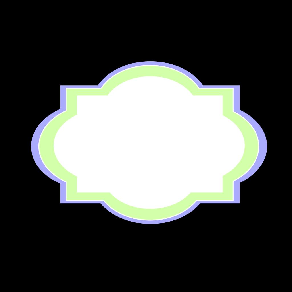 Decorative Label-blue SVG Clip arts