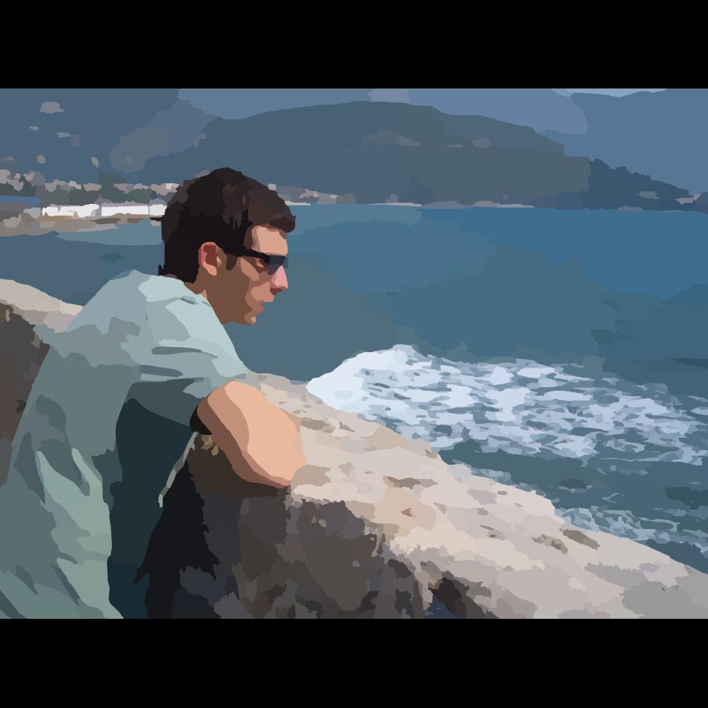 Man Carries Donkey SVG Clip arts