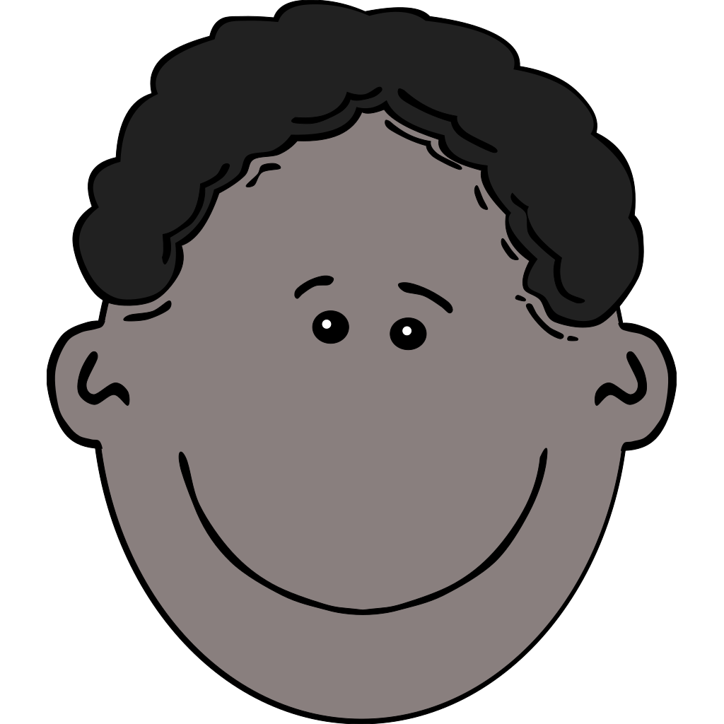 Boy Face Cartoon 3 SVG Clip arts