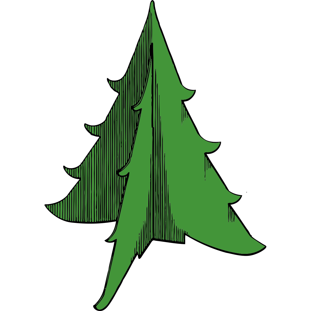 Christmas Tree Icon 2 SVG Clip arts