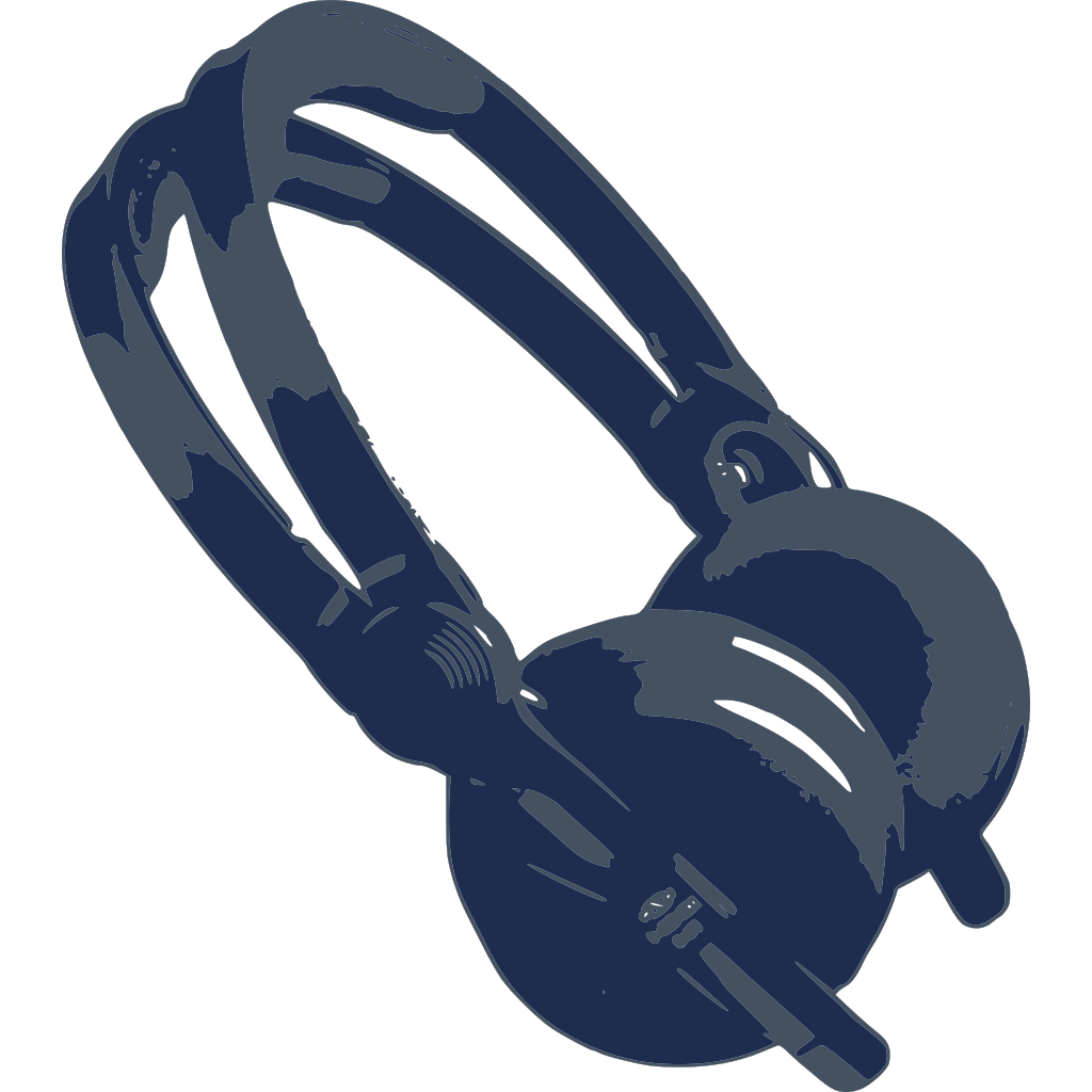 Blue Headphones SVG Clip arts