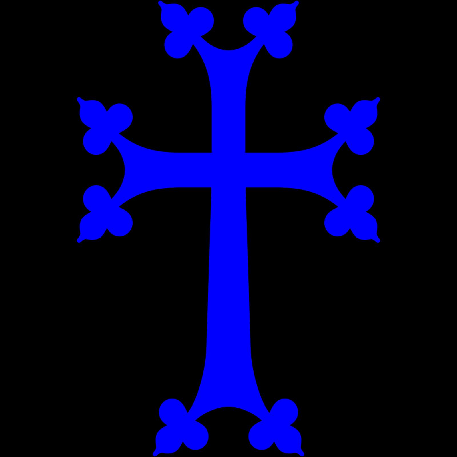 Light Blue Cross SVG Clip arts