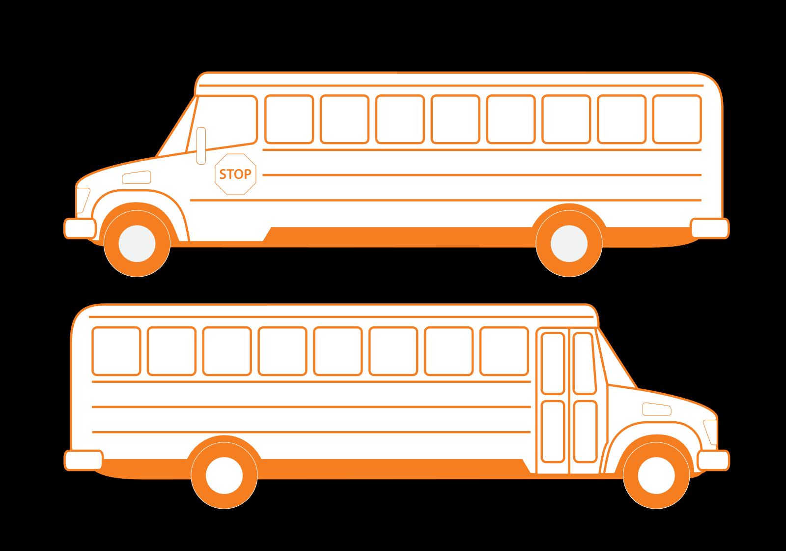 Blue Bus SVG Clip arts