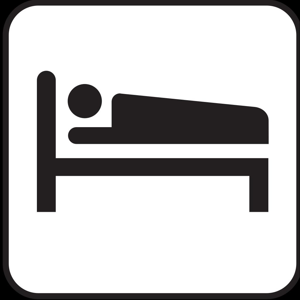 Hotel Motel Sleeping Accomodation Clip Art - Red/white SVG Clip arts