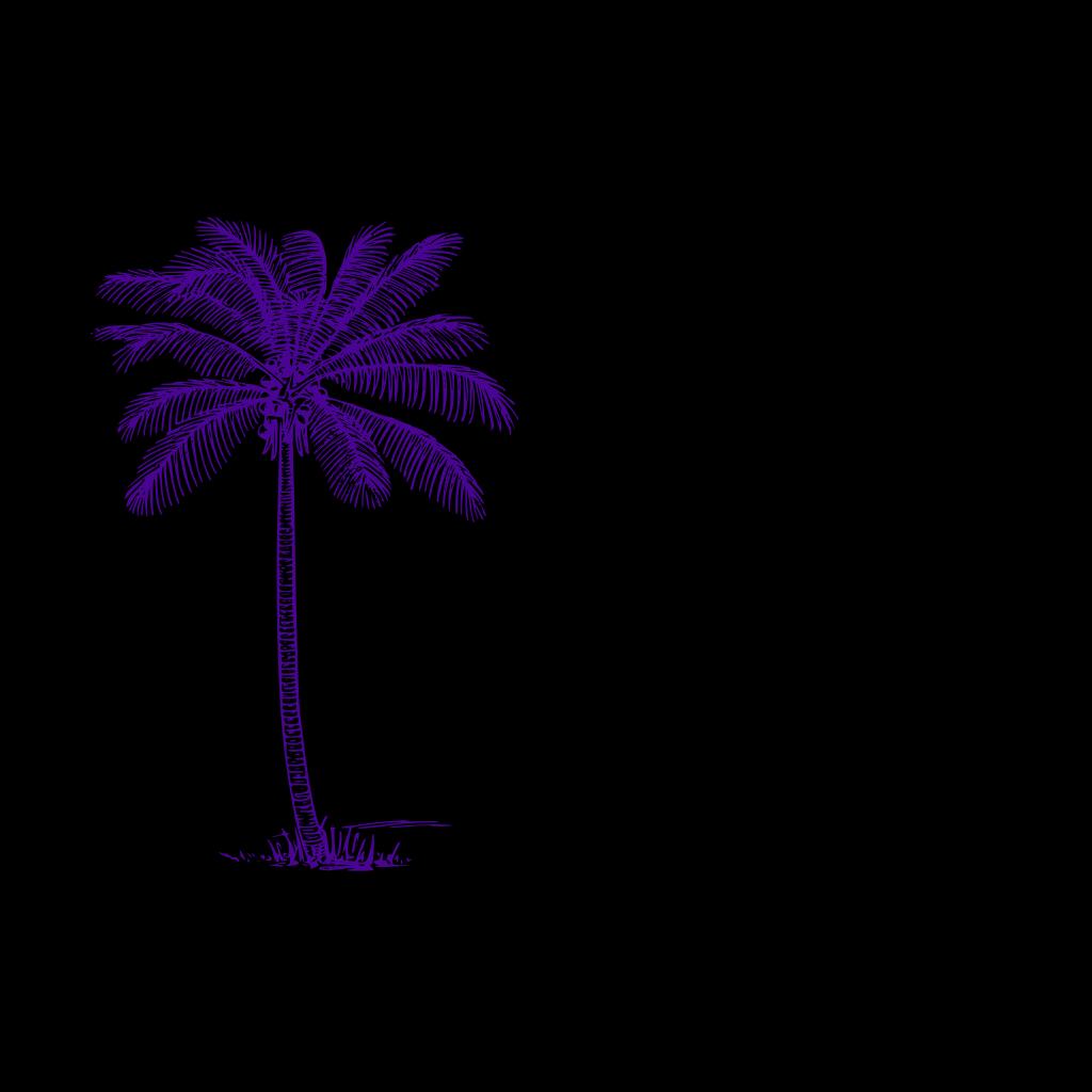 Blue Palm Tree SVG Clip arts