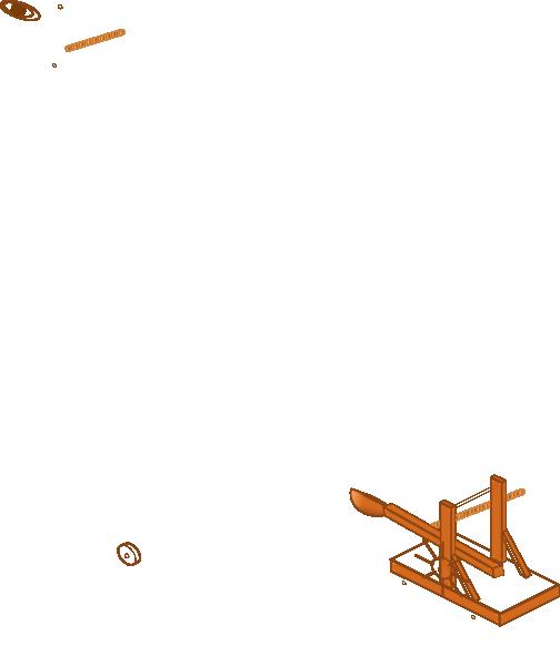 Blue Catapult SVG Clip arts