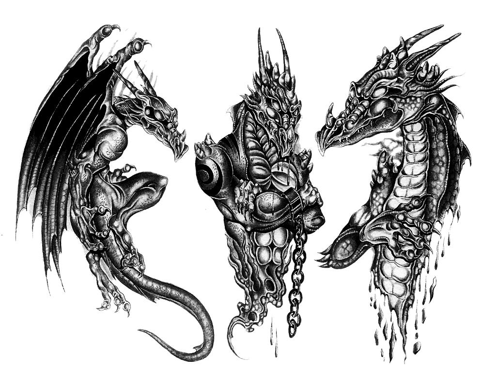3D Dragon Tattoo Design PNG PNG, SVG Clip art for Web ...