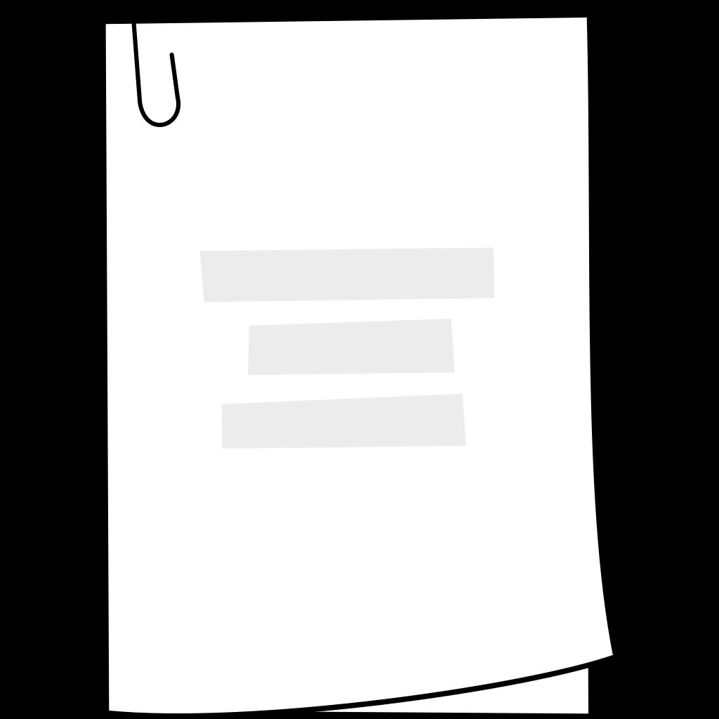 Clip Art Document Clipart document clip art sign download vector online svg