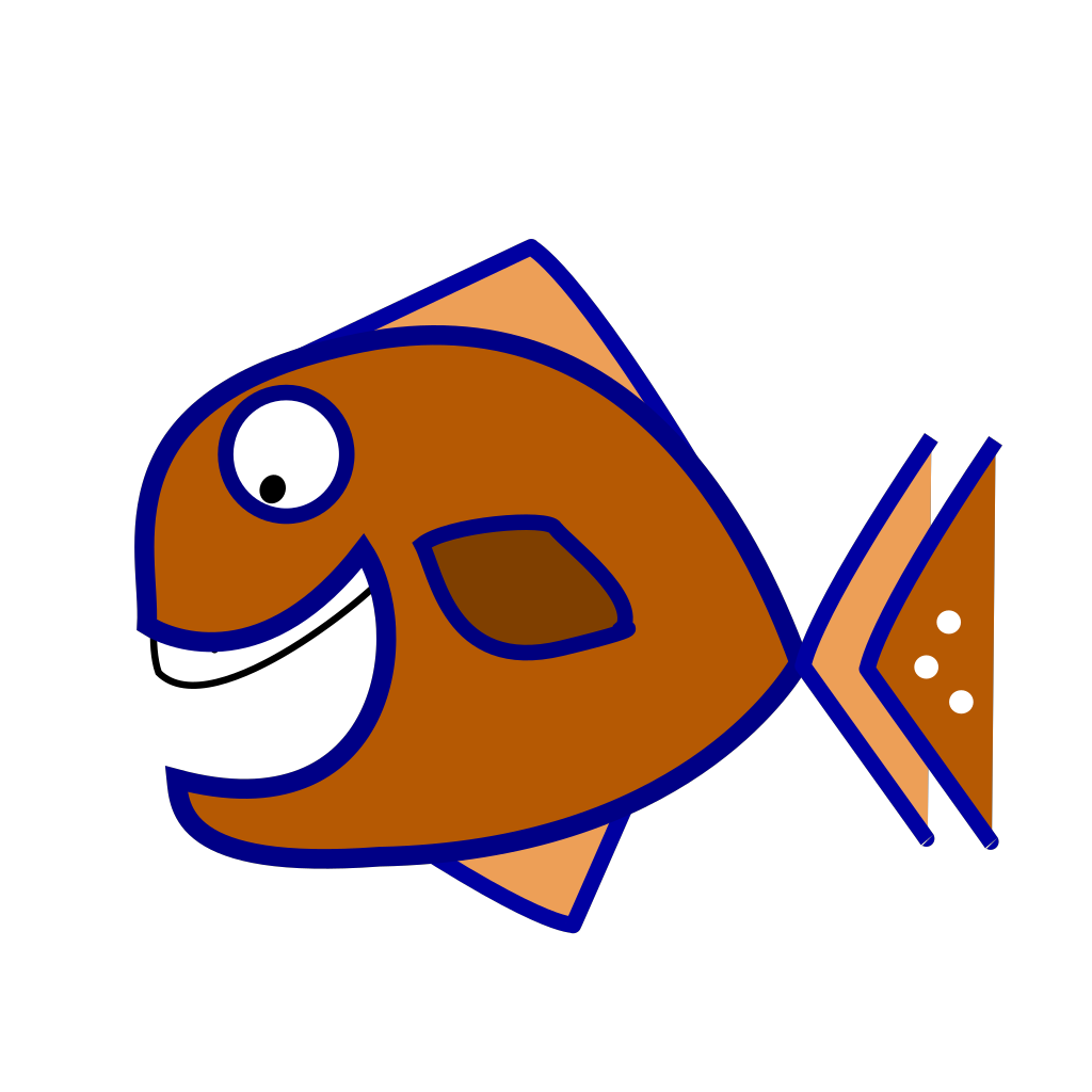 Brown Fish SVG Clip arts