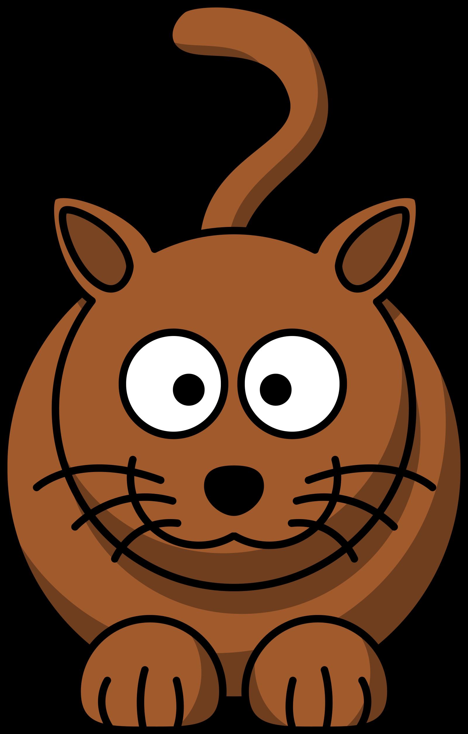 Brown Cat SVG Clip arts