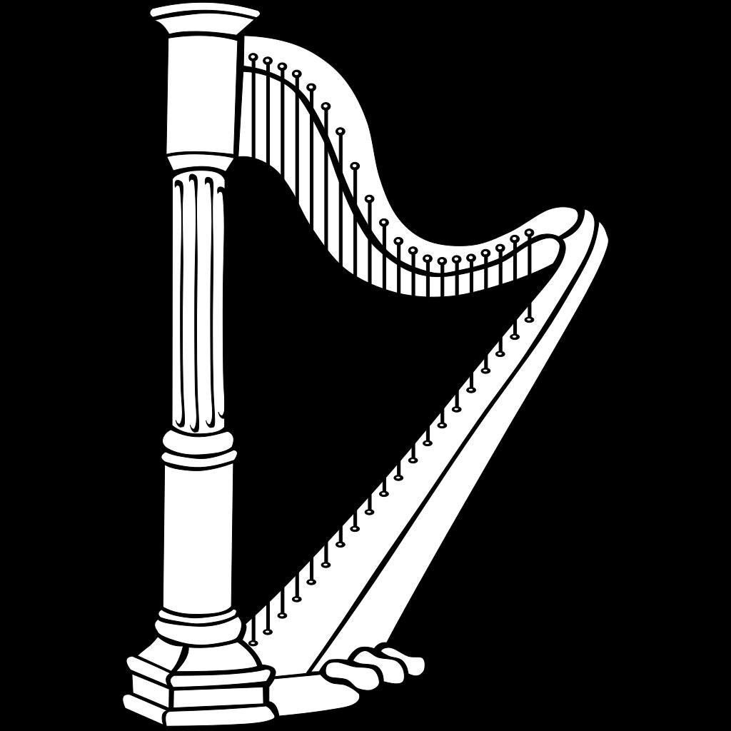 Harp SVG Clip arts