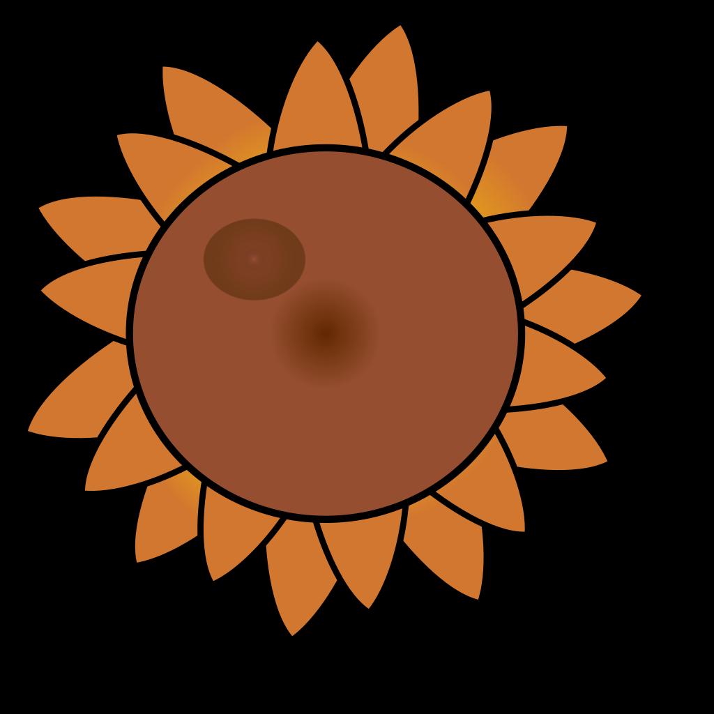 Brown Flower SVG Clip arts