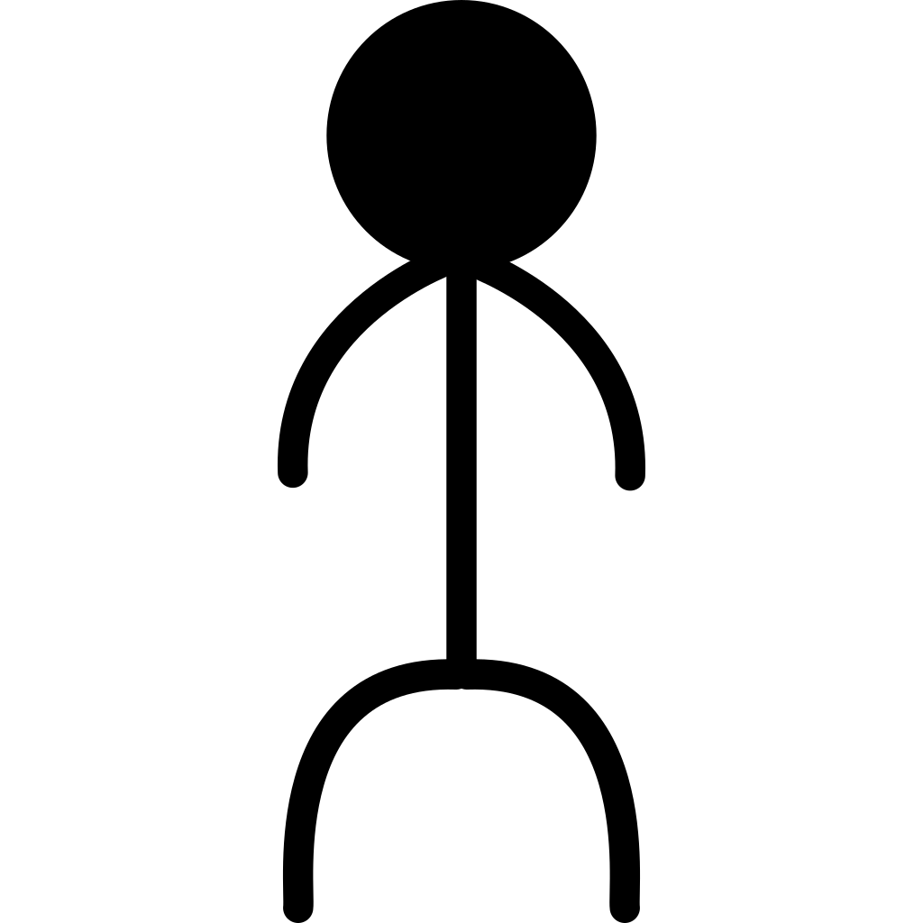 Stickman Jump SVG Clip arts