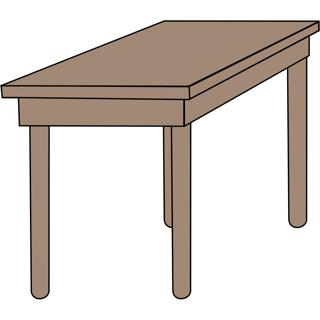 Student Desk SVG Clip arts
