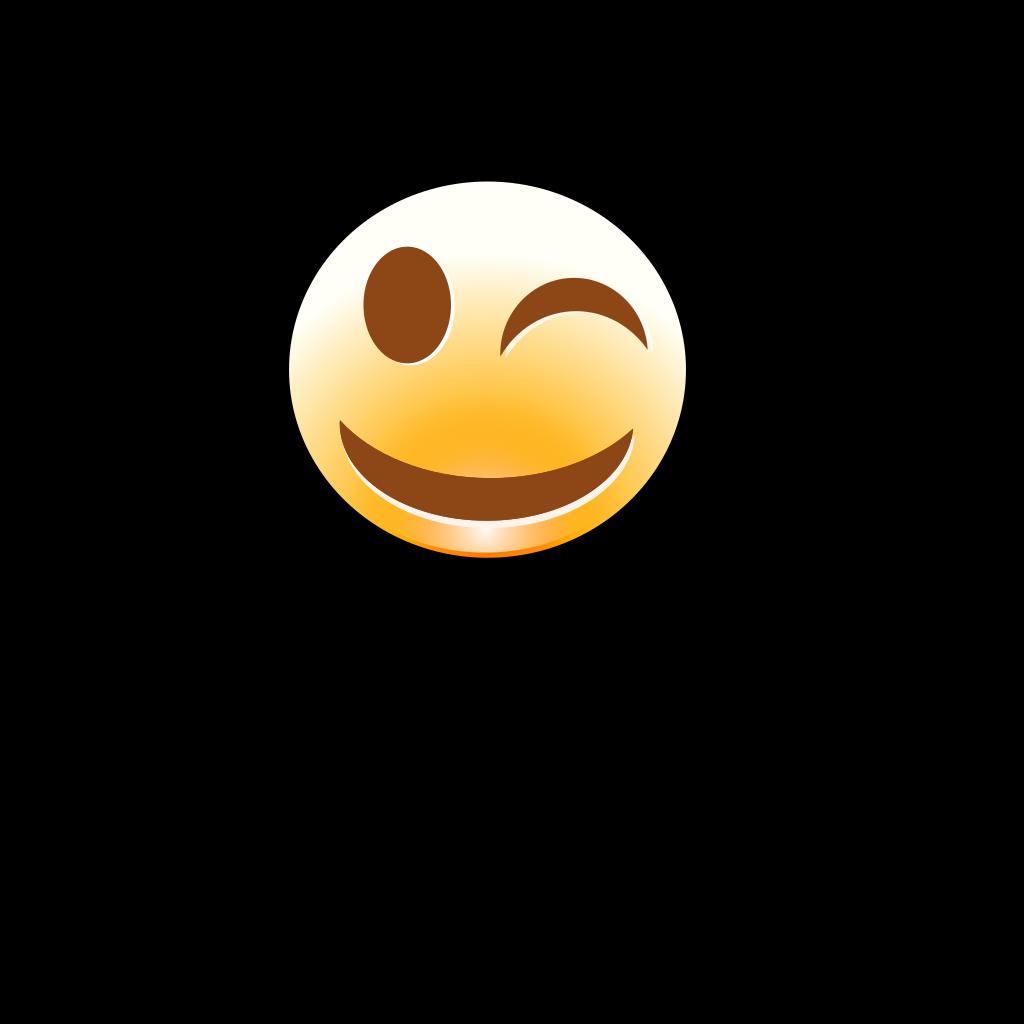 Winking Smiley SVG Clip arts