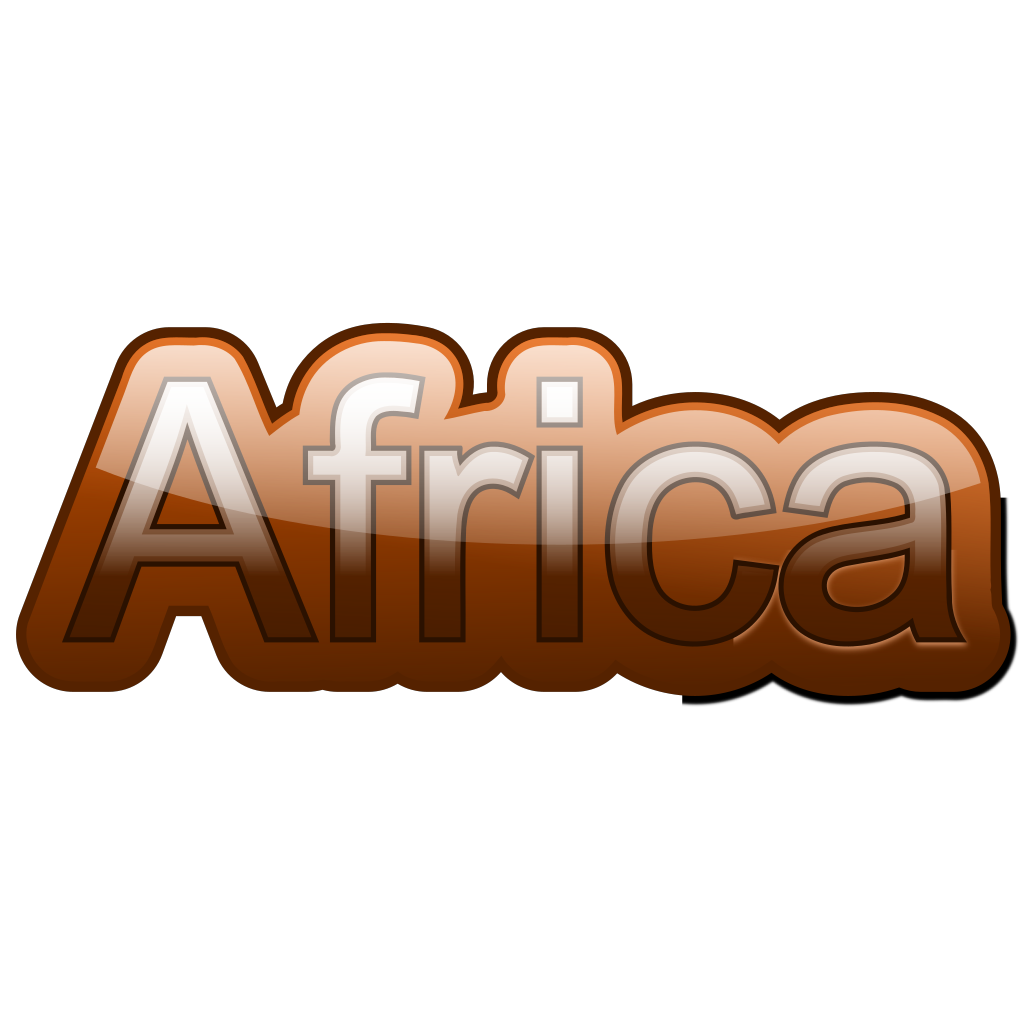 Africa-text SVG Clip arts