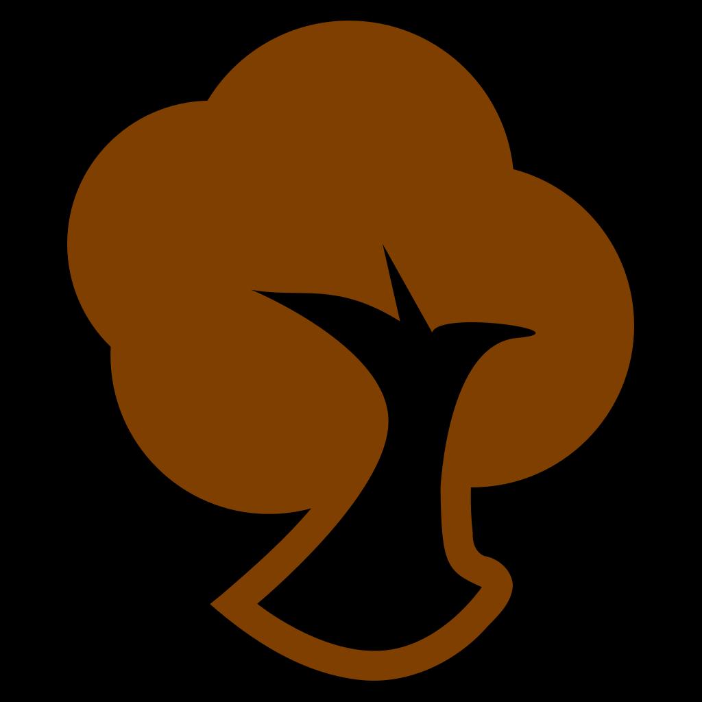 Brown Tree Icon SVG Clip arts