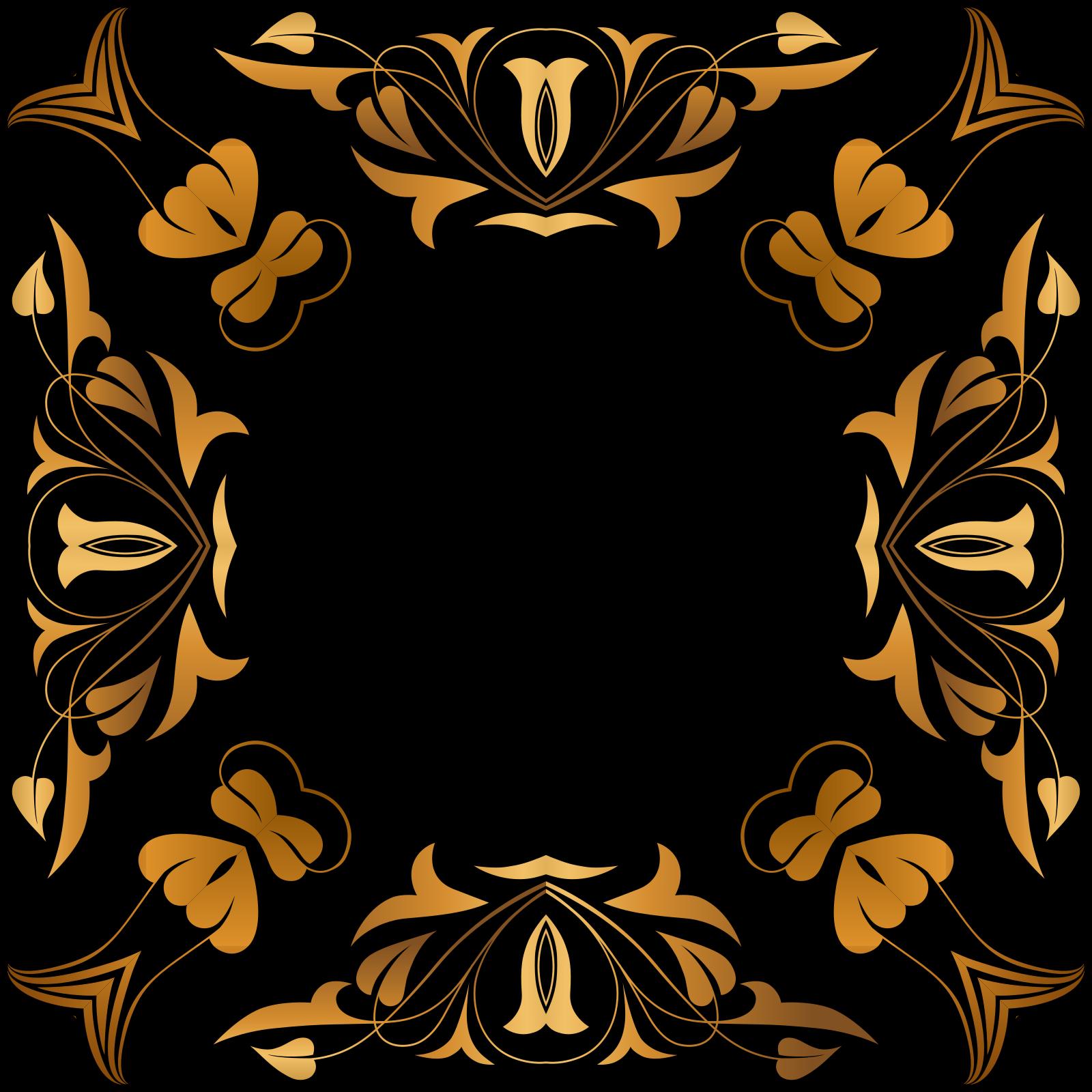 Brown Border SVG Clip arts