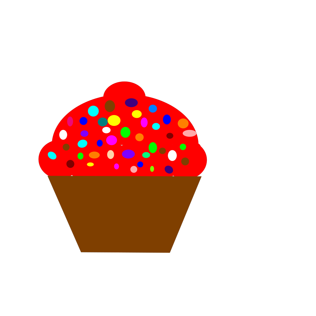 Cupcake Brown SVG Clip arts