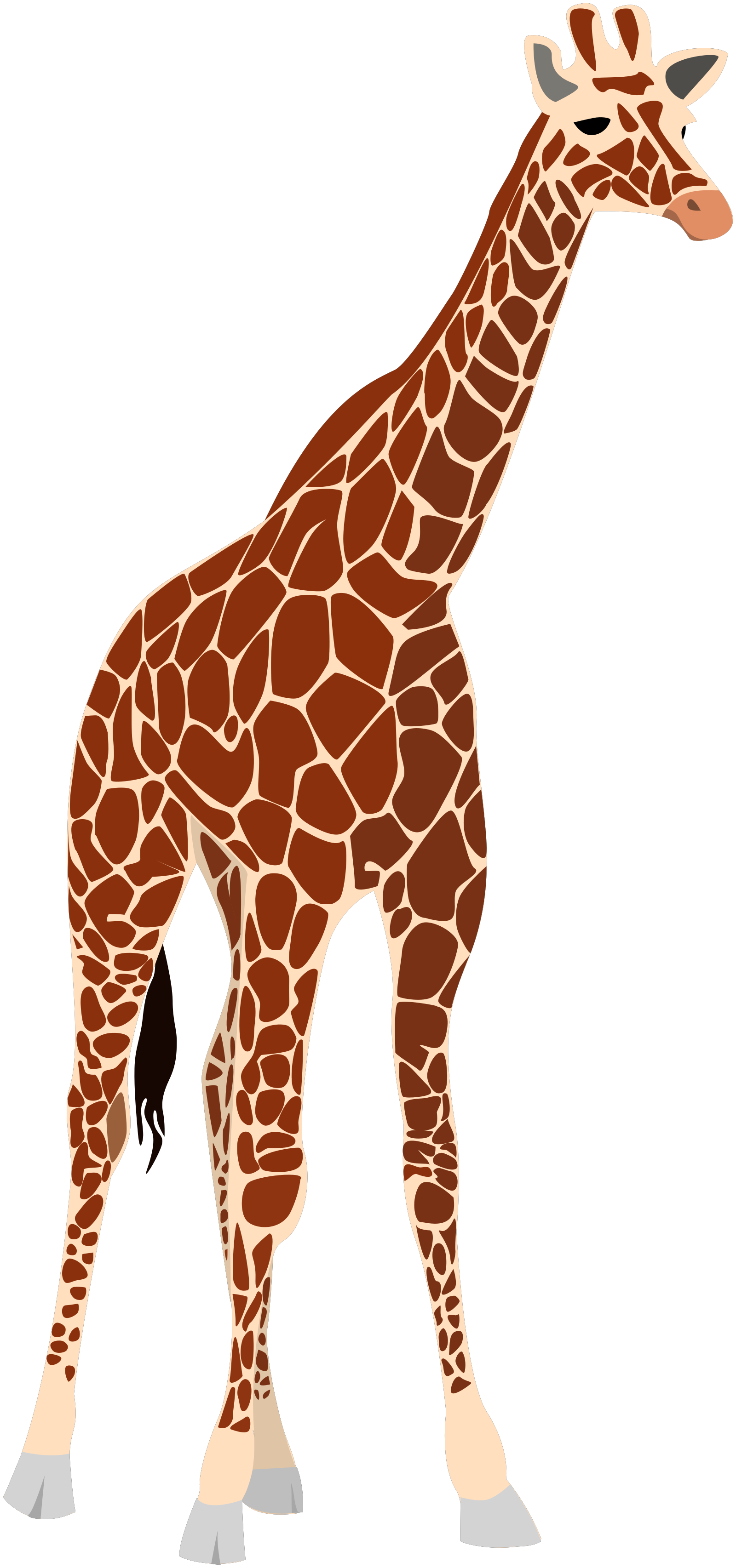 Giraffe Pink Brown SVG Clip arts