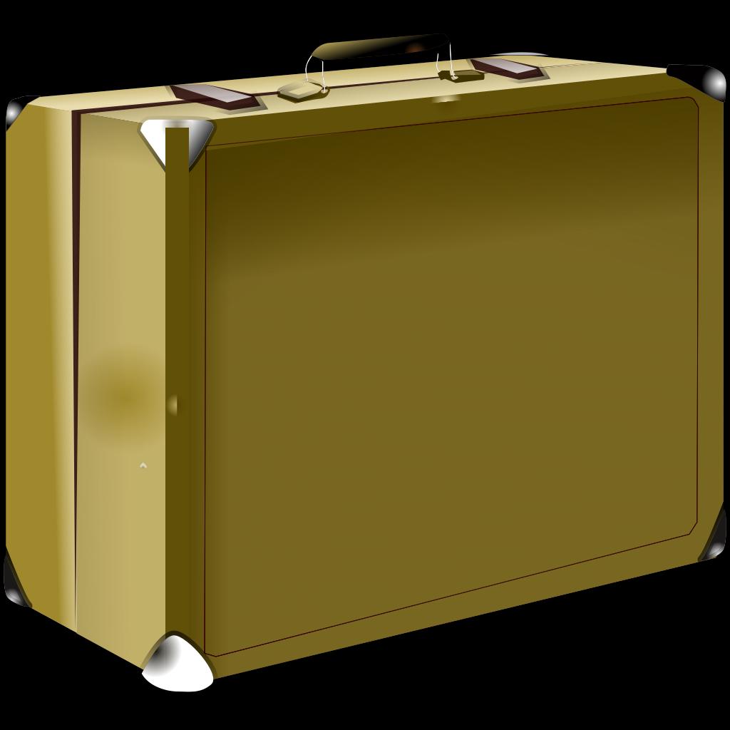 Chocolate Brown Suitcase SVG Clip arts