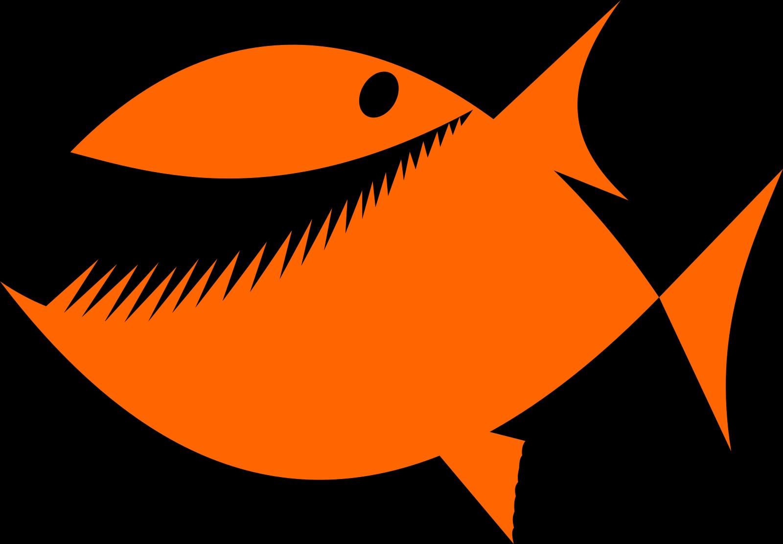 Brown Fish SVG Clip arts