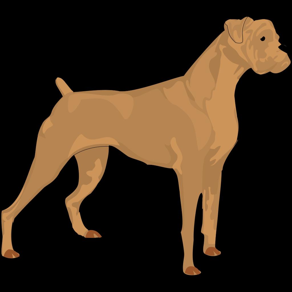 Brown Boxer SVG Clip arts